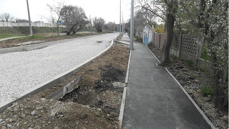 ремонт дороги по улице Симонок