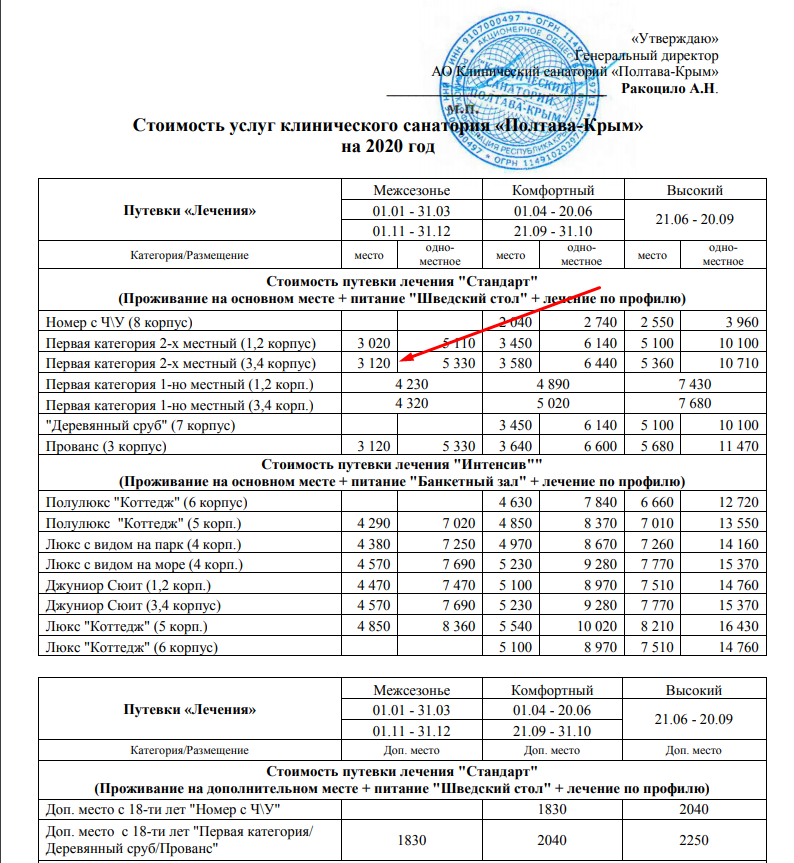 сайт санатория Полтава-Крым