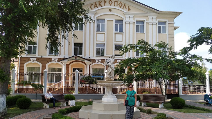 сторону санатория Сакрополь